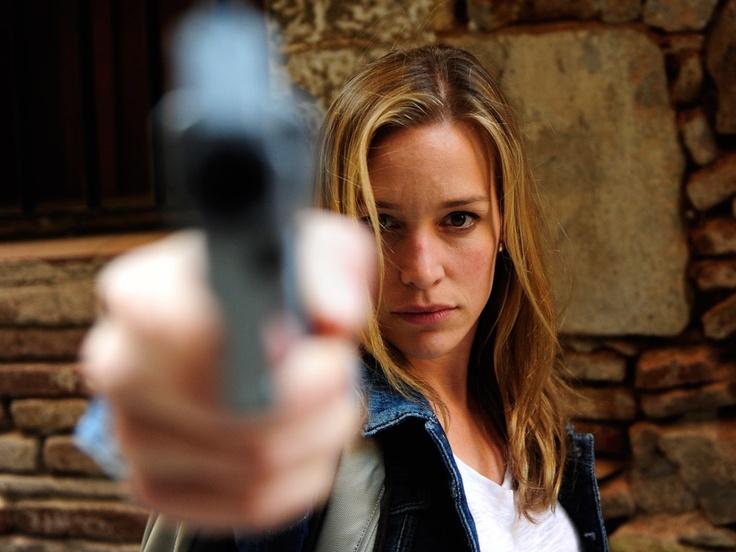 Annie's got a gun. Piper Perabo as Annie Walker in Covert Affairs. Via USA Network. #CovertAffairsSweepsEntry