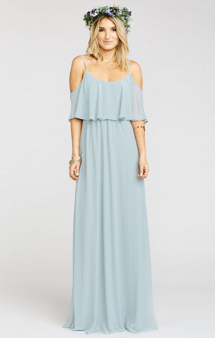 Caitlin Ruffle Maxi Dress ~ Steel Blue Chiffon ~ Show Me Your Mumu ... 5a9b8967f7ab
