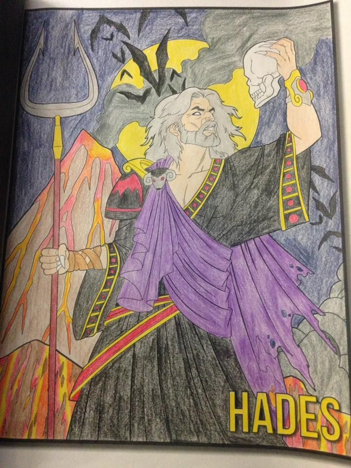Hades The God Of The Underworld From Greek Mythology Coloring Book