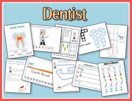 Dentist Preschool Pack
