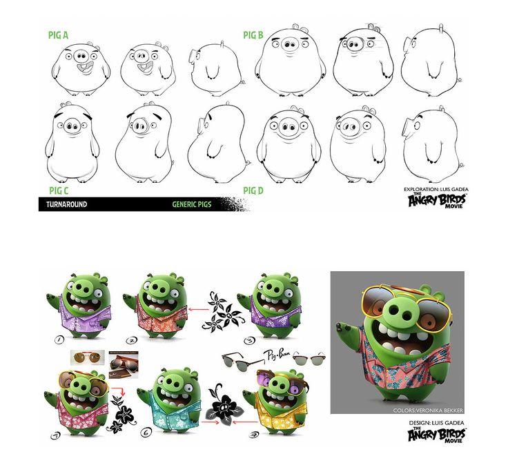 Character Designs de Luis Gadea para o filme Angry Birds | THECAB - The Concept Art Blog