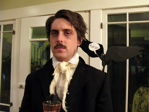 EDGAR ALLEN POE | appropriately dark, classic literary figure a for Halloween costume