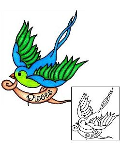 Show details for Pisces Tattoo For Women tattoo | PHF-00596