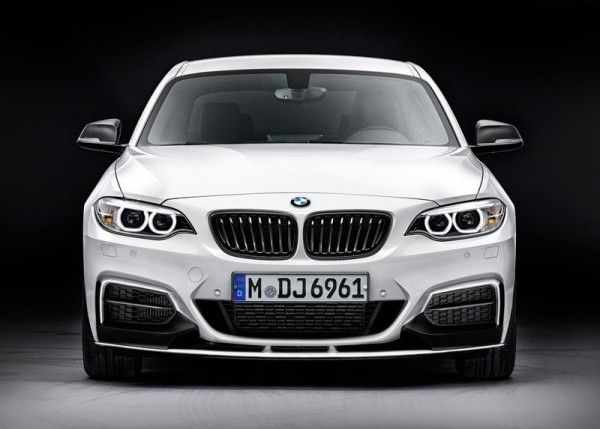 2014 BMW 2 Series Coupe with M Performance Parts Front View 600x429 2014 BMW 2 Series Coupe with M Performance Parts Review and Design