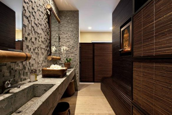 Decoration-zen-bathroom-design-natural-stone-wall