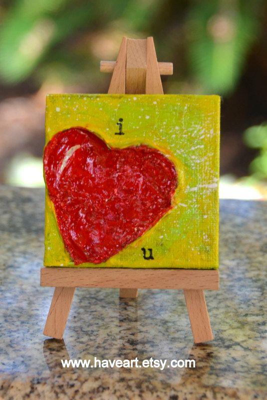 Heart Art original Painting Cute