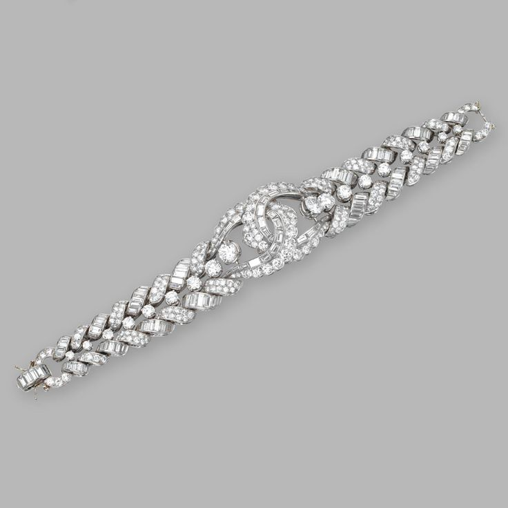 Platinum and diamond bracelet | Lot | Sotheby's LOT SOLD. 46,875 USD (Hammer Price with Buyer's Premium)