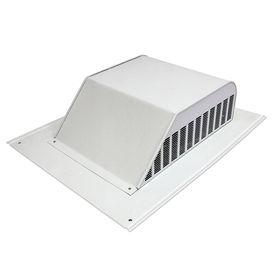 Master Flow 60-Cfm White Aluminum Slant-Back Roof Louver Ssb960aw