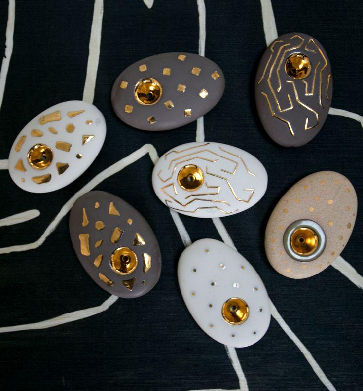 KELLY WEARSTLER | CERAMIC PIPES. Ceramic artisanal pipes created by Miwak Junior for Kelly Wearstler.
