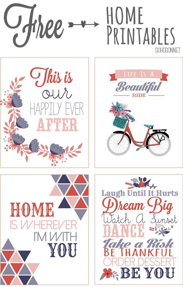 Inspiring fun Free Printables - free until April 24th SohoSonnet Creative Living