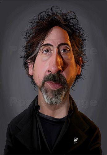 Rob Snow | caricatures - Tim Burton art | decor | wall art | inspiration | caricature | home decor | idea | humor | gifts