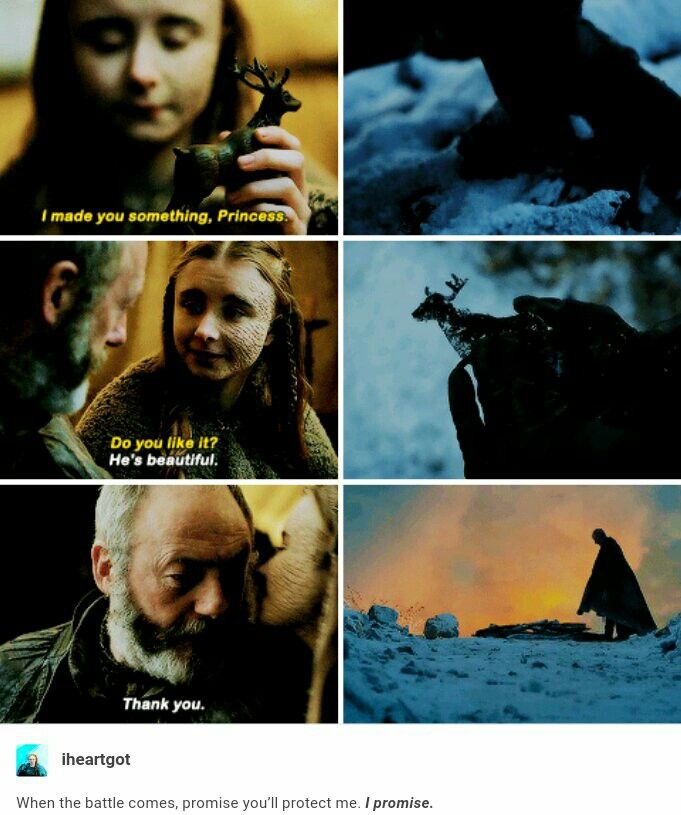 Shireen Baratheon and Ser Davos Seaworth