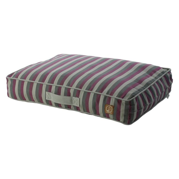 One For Pets Siesta Spanish Indoor/Outdoor Classic Pillow Bed Purple Stripe - 1808-PURPLE STRP-S