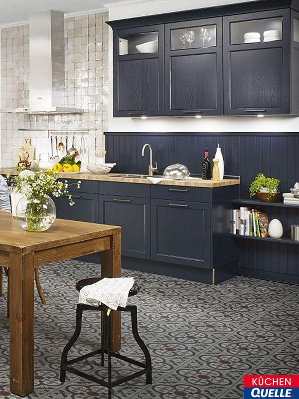 Vintage Nostalgischer Charme in Perfektion Die Classica Samtblau erinnert mit ihrem einnehmenden Design an die K chen in alten Landg tern