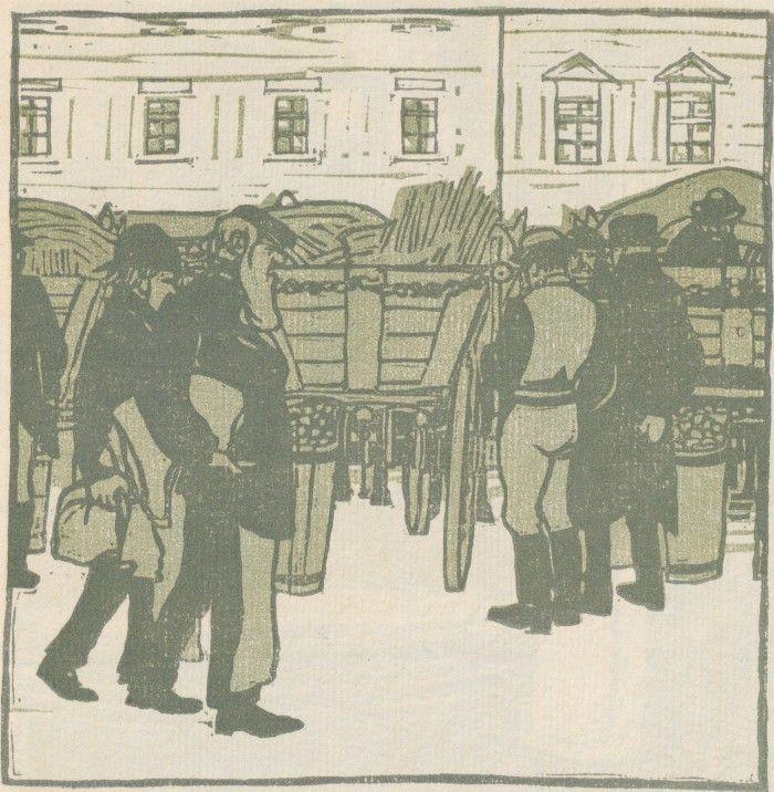 F. König, Erdäpfelwagen v. Wiener Naschmarkt, Ver Sacrum, Volume 1, Number 11, 1 June 1903