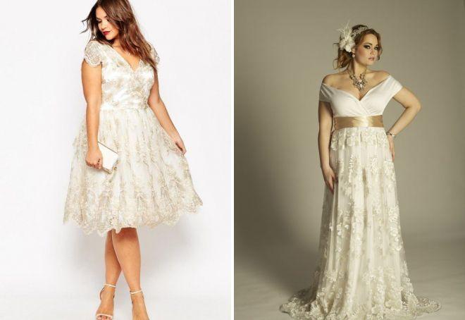 красивые шифоновые платья для полных