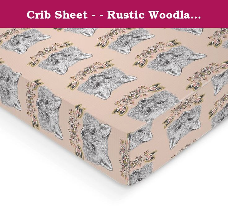 Crib Sheet - - Rustic Woodland Fox and Floral Print- - Fitted Crib Sheet- Pink Crib Sheet- Crib Bedding - Nursery Bedding - Baby Bedding. LOOK AT THIS GREAT FOX PRINT! How rustic and perfect for your little blossom! All crib sheets and changing pad covers are fitted with elastic all the around for a secure fit and fit standard size mattresses. Handmade with cotton material. Also keep in mind that all monitors differ in screen resolution & color. Make sure to check out my shop policy…