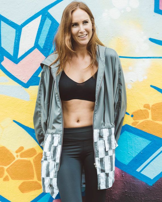 The Gabdala Anorak is perfect to throw-on post workout. The printed anorak features long sleeves with panel detailing and elastic cuffs, a deep hood, drawstring waistline, front pockets and an oversize fit. Made from quality water resistant fabric, this anorak is available in two sizes – small/medium and large/extra large. Create contrast by wearing with a flattering legging and sporty sneakers to take you seamlessly from studio to street.