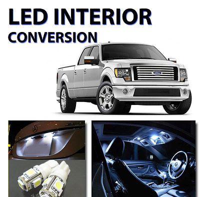 12pcs Bright White LED Lights Interior Package Kit for Ford F150 2010-2012