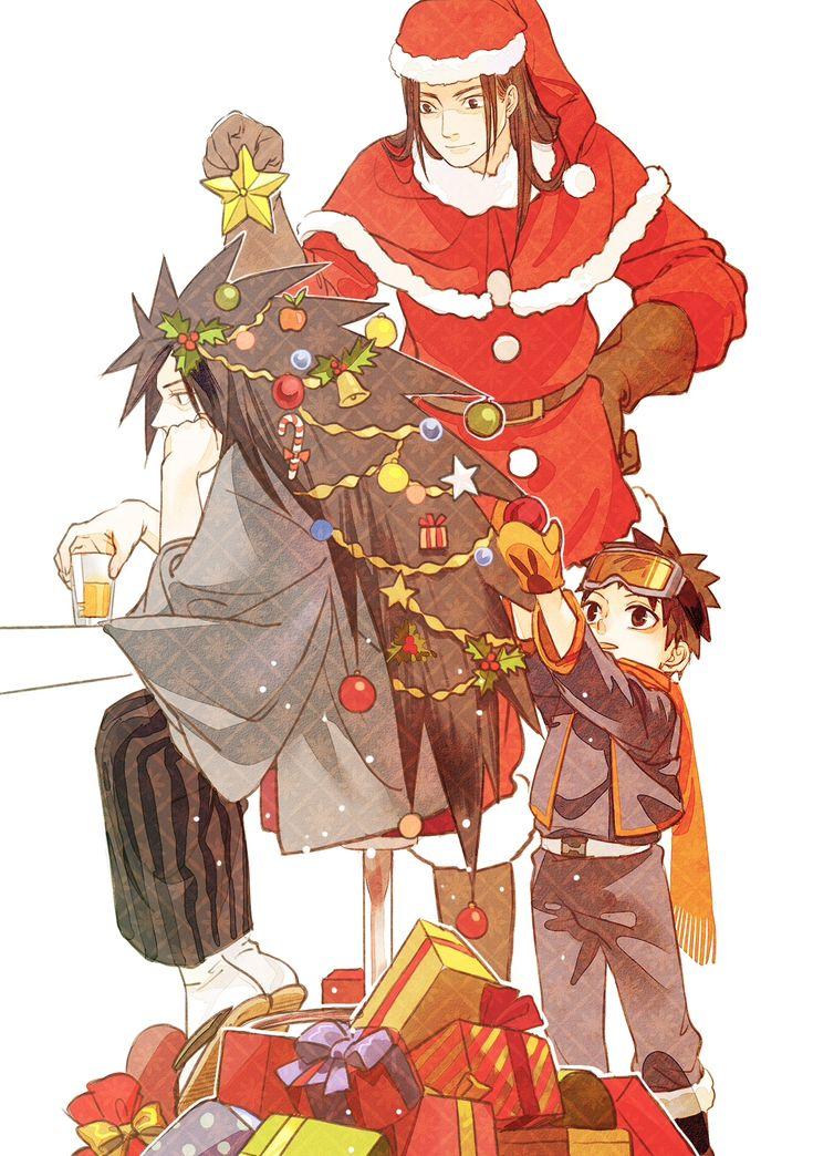 NARUTO, Uchiha Madara, Senju Hashirama, Uchiha Obito, Christmas