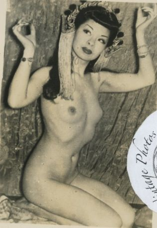 Noel Toy: vintage 2.5x4 photo Noel Toy originally performed at the Forbidden City nightclub in San Fransisco, CA, but performed on the East Coast as well. She was famous for her fan dance,