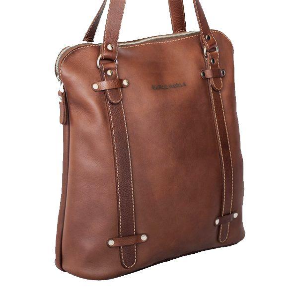Leather Zip Tote Bag│ALEX & MARLA