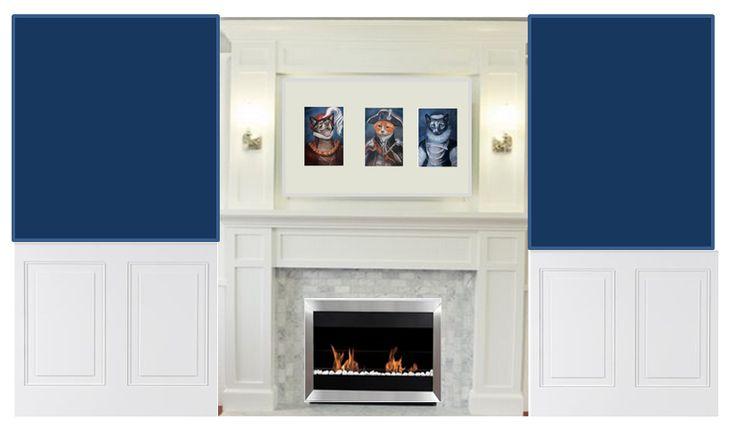 Mock up of fireplace wall fireplace wall fireplace