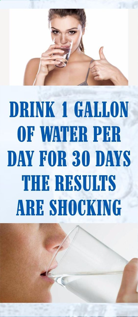 HE DECIDED TO DRINK 1 GALLON OF WATER PER DAY FOR 30 DAYS: THE RESULTS ARE SHOCKING! -