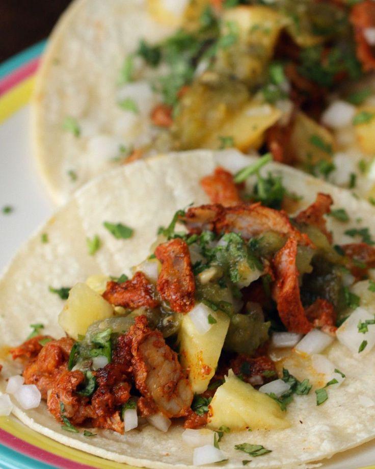 Homemade Al Pastor Mexican-Style Pork Tacos (Tacos Al Pastor) via Bien Tasty  FULL RECIPE: http://bzfd.it/2dN6Ib4