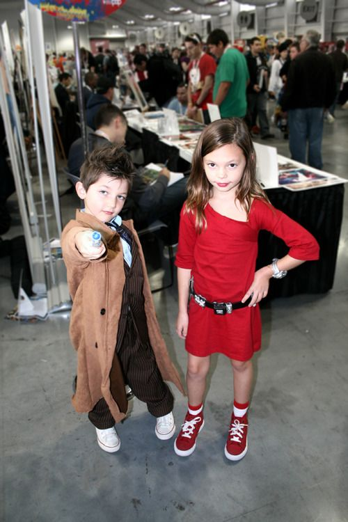since hes dressed as 10 it would make more sense if she was rose, but still cute :) #doctorwho #halloween