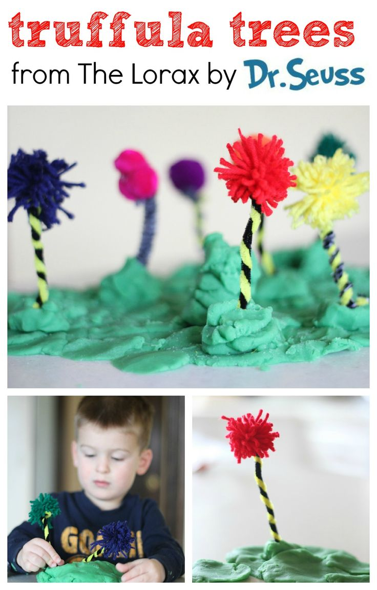 """Make Your Own Truffula Trees after reading """"The Lorax"""" by Dr. Seuss.  The kids will love making their own Truffula forest!"""