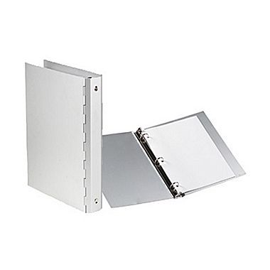 JAM Paper® Premium Aluminum 3 Ring Binder, 1 Inch, Silver, Sold Individually (7332)