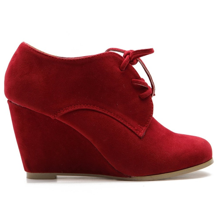 I dont see things like this opten: Ollio Women, Wedge Heels, Ankle Lace, Woman Shoes, Heels Fashion, Womens Shoes, Faux Suede, Fashion Ankle