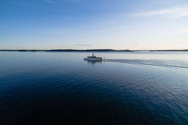 Flygfoto SS Storskär, Ångbåt
