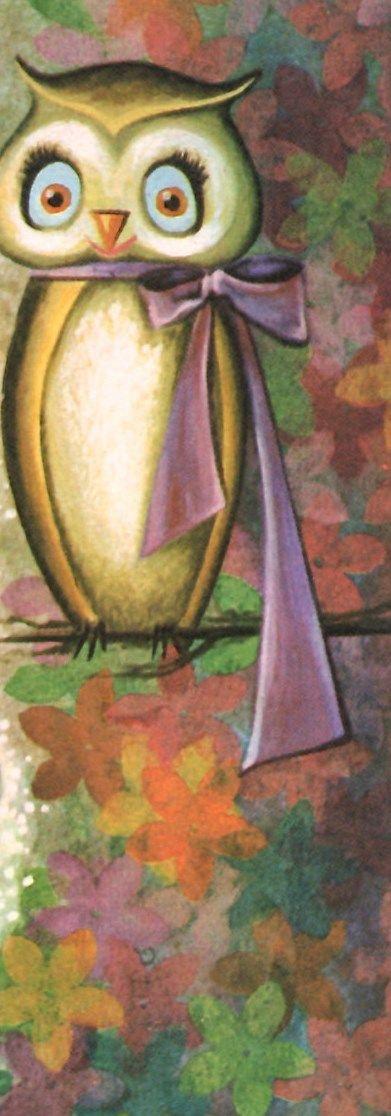 Vintage owl card