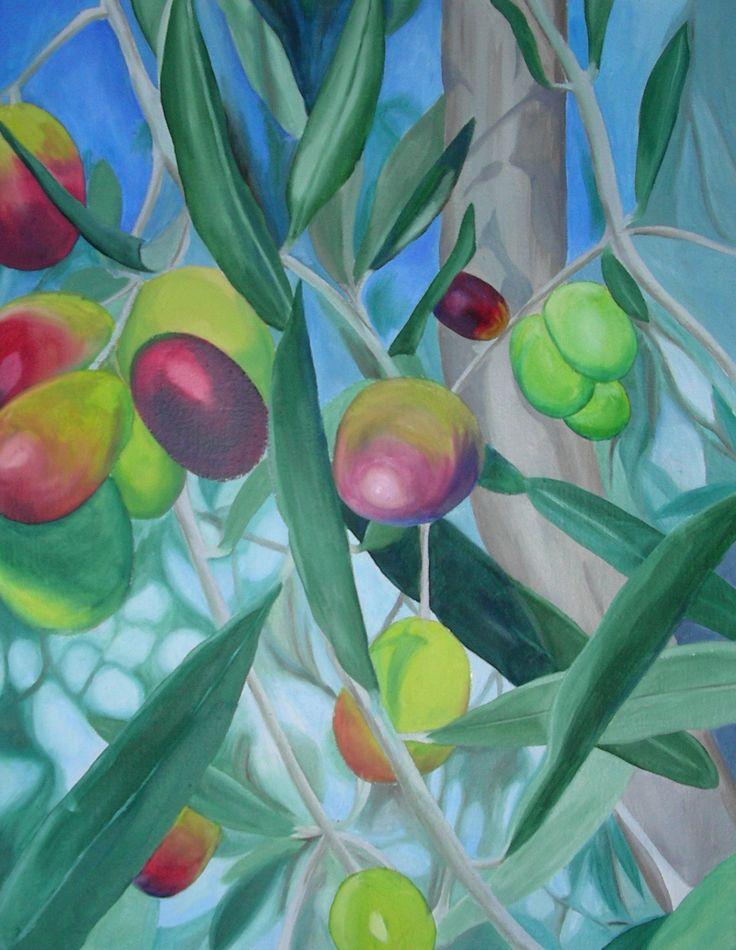 Olive - olio su tela - 2007