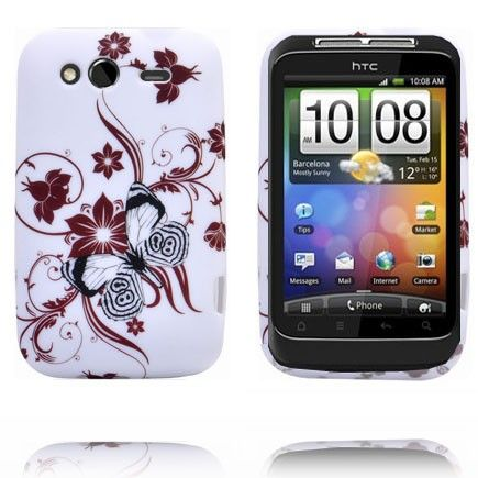 Symphony Have (Brun Blomster) HTC Wildfire S Cover