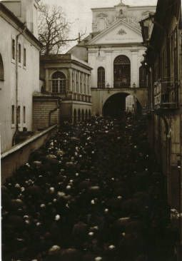 Wilno: The Ostra Brama Church - the praying populace :: Jan Bulhak Collection :: Digital Collections :: University at Buffalo Libraries. Click the image to visit the University at Buffalo Libraries Digital Collection and learn more about the photograph. #ublibraries #polishroom #JanBulhak #Poland