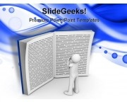 Reading Book Education PowerPoint Template 1110