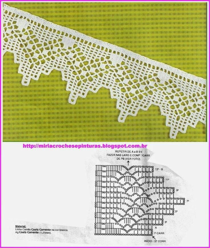Luty Artes Crochet: Barrados com gfáficos