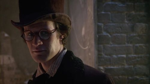 Matt Smith as Doctor Who in the 2012 Christmas Special  wearing the faux tortoiseshell frames custom-made by for him by General Eyewear.
