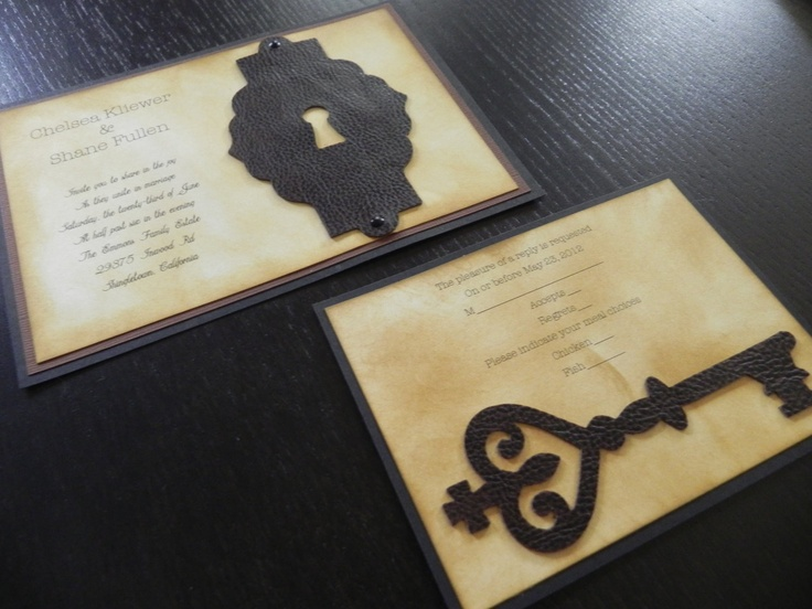 Lock and key wedding invitations wedding tips and inspiration 16 best images about invations on pinterest facts and stopboris Choice Image