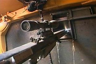 One of the Killdozer's weapons, a Barret M82 rifle
