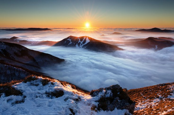 #winter #slovakia #malafatra #mountains  Sunset at Kľak II. by Matúš Koprda on 500px