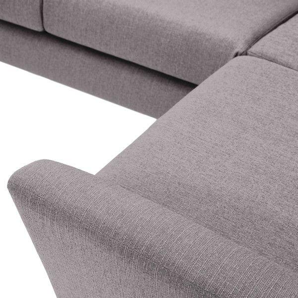 Silver Fabric Sofas Corner Sofa Right Hand Fraser Range Oak Furnitureland Grey Fabric Corner Sofa Corner Sofa Silver Fabric