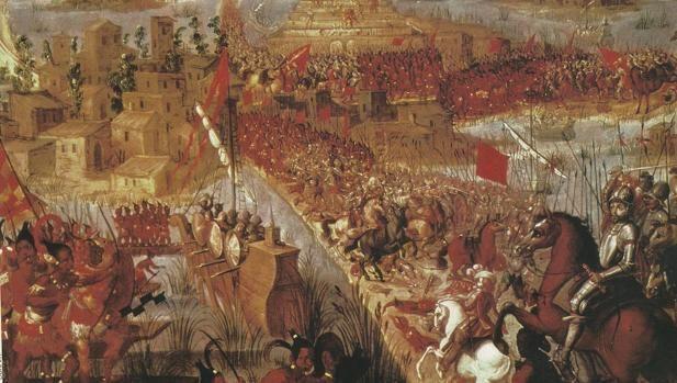 La conquista de Tenochtitlan, de autor desconocido. Alonso Yáñez, calificado como «carpintero de lo blanco», se encontró con una puerta tapiada cuando estaba construyendo un altar cristiano en un palacio azteca. Al otro lado se hallaba uno de los terosos más grandes conocidos El 8 de noviembre de 1519 tuvo lugar al fin en la capital azteca el deseado encuentro entre Hernán Cortés y Moctezuma II. Al mando de 518 infantes, 16 jinetes y 13 arcabuceros, el extremeño se había internado hacia el…