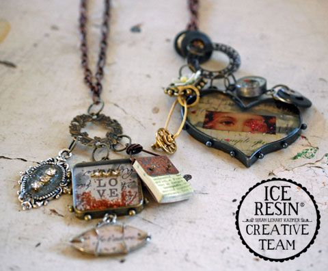 How to use Ice Resin - pieces from #CraftingTheEmmys and how ot create a neckalce with ICE Resin Bezels and ICED Enamels Silhouettes