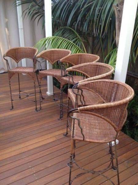 Cane Stool Set - 5 off | Stools & Bar stools | Gumtree Australia Ryde Area - North Ryde | 1091123123