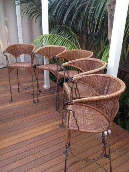 Cane Stool Set - 5 off | Stools & Bar stools | Gumtree Australia Ryde Area - North Ryde | 1091123123