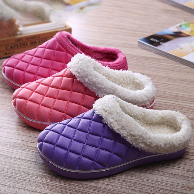 2016 Nuove Donne di Inverno Caldo Casa Pantofole Pavimenti Interni Eva Aggiungi…